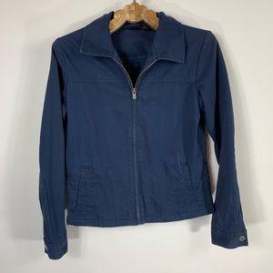 Dark Blue Hurley Zip Front Jacket Medium